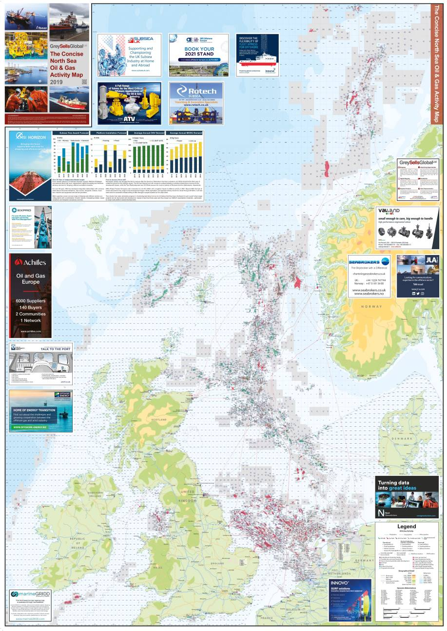 Map Of Uk Oil Fields.Oil And Gas Activity Maps